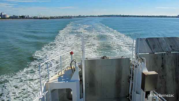 Le bac-ferry entre Royan et Le Verdon