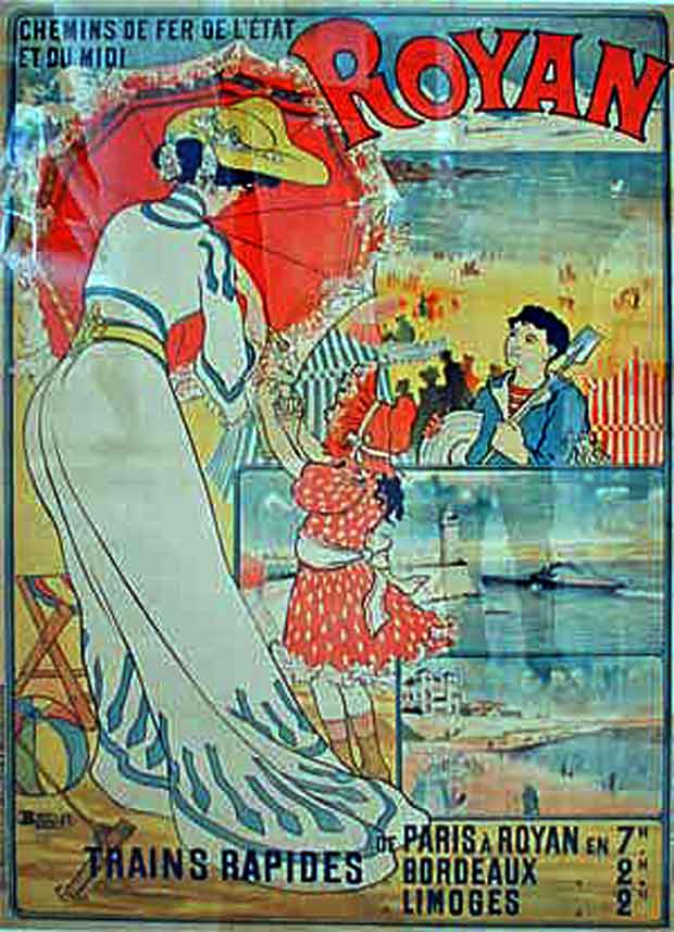 affiche train Royan belle epoque